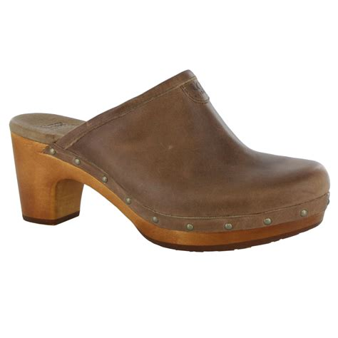 brown clogs for ugg australia abbie light brown womens clogs shoes ebay