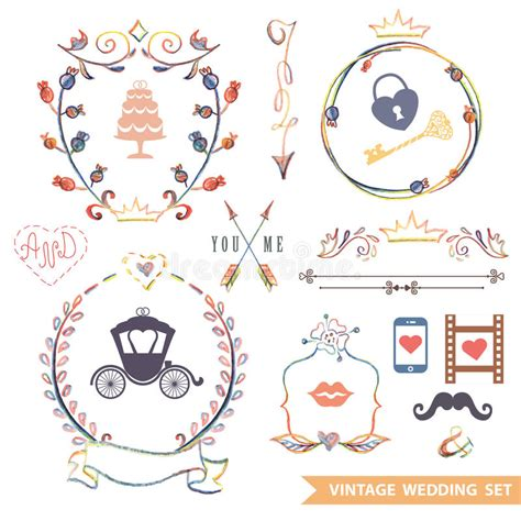 retro style pet icons set vector free download cute retro floral set with doodle decor wedding stock