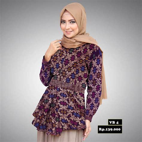 Blouse Batik By Ratoe Modern peplum batik prada kerja wanita vb 4 batik prasetyo