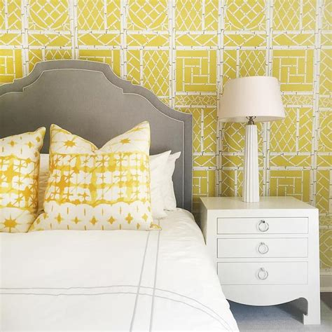 yellow wallpaper for bedrooms yellow and gray wallpaper design ideas