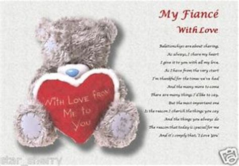 valentines poems for fiance my fiance with laminated gift personalised poem ebay