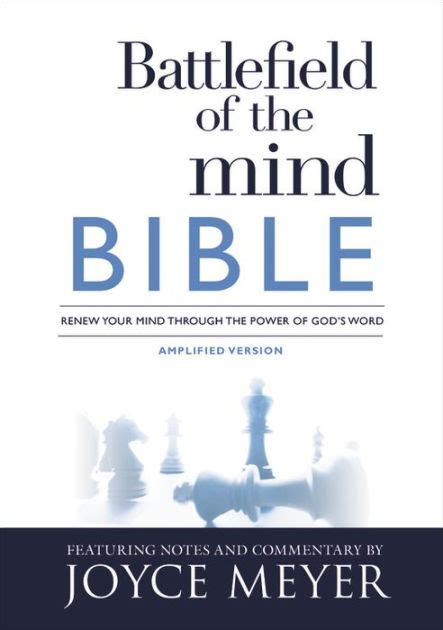 battlefield of the mind battlefield of the mind bible renew your mind through the power of god s word by joyce meyer
