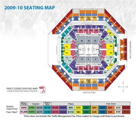 att park 3d seating chart at t center seating map san antonio spurs