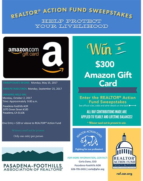 Realtor Com Sweepstakes - pasadena foothills association of realtors realtor 174 action fund sweepstakes is now