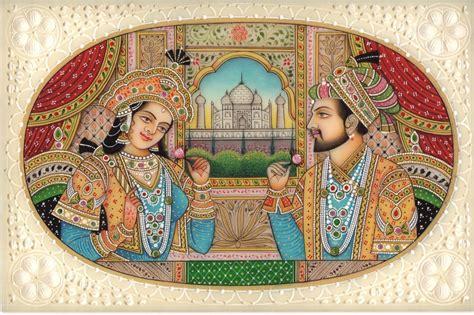 Painting Handmade - shah jahan mumtaz mahal portrait handmade mughal