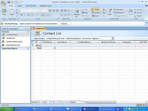 ms access 2007 templates create a microsoft access 2007 database using a template
