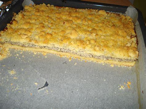 mohn vanille kuchen vanille mohn kuchen mit streusel rezept mit bild