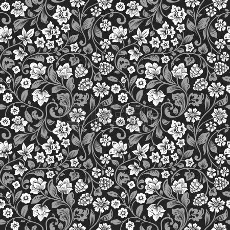 imagenes de rosas grises vector sin patr n floral vintage siluetas estilizadas de
