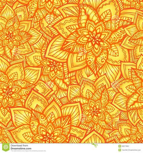 seamless orange pattern bright orange floral seamless pattern stock vector image