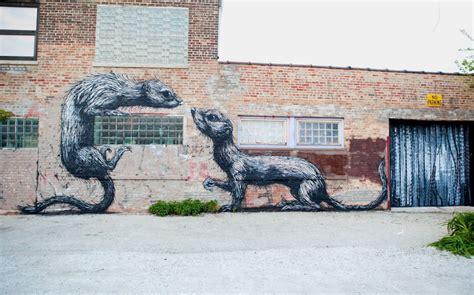 operable window  chicago street art roas animal