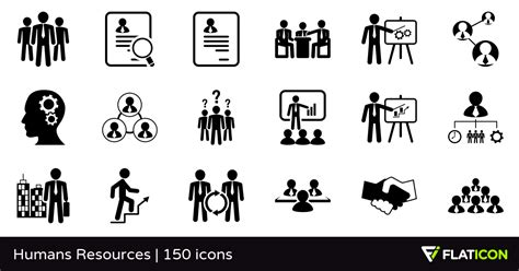 vector icons  humans resources designed