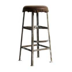 Metal And Leather Bar Stools Nordal Vintage Style Bar Stool By Bell Blue