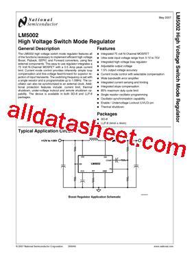 Lm723 National Semiconductor lm5002 datasheet pdf national semiconductor ti