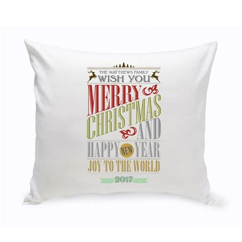 decorative pillows with words personalized christmas throw pillow words