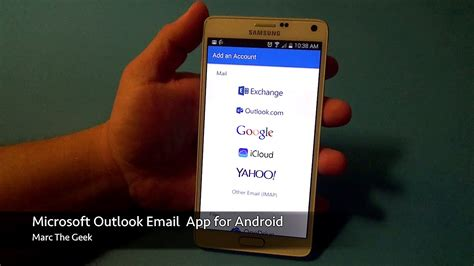 email application for android microsoft outlook email app for android