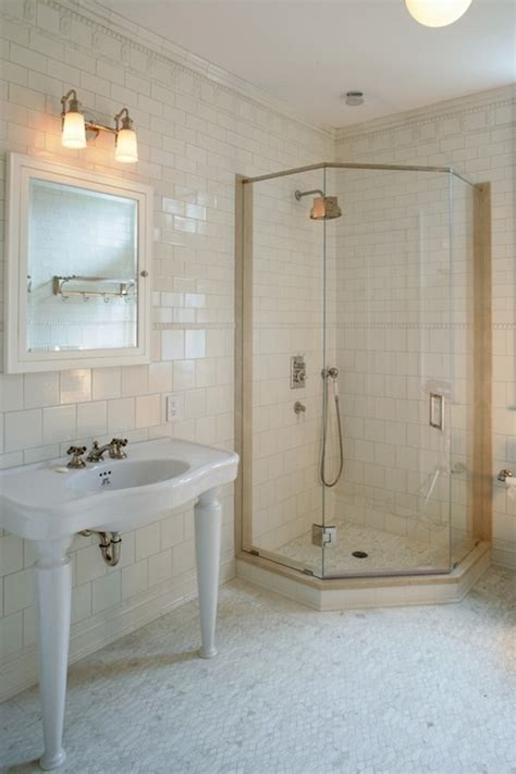 corner shower ideas transitional bathroom carole