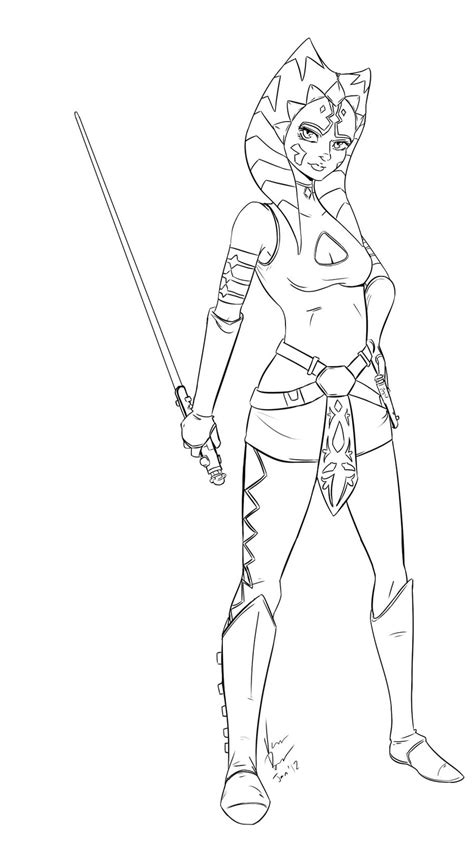 Star Wars Ahsoka Coloring Pages Online Coloring Pages Ahsoka Tano Coloring Pages
