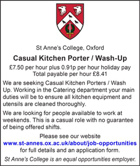Kitchen Porter Vacancies In Oxford Offered Daily Info