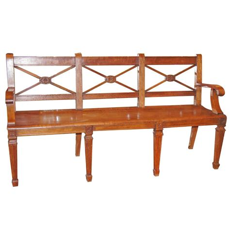 bench styles neoclassic style bench for sale at 1stdibs