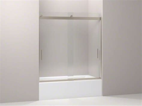 Kohler Glass Shower Doors Kohler Levity R Front Sliding Glass Panel For Shower Door K 706003 Contemporary Shower