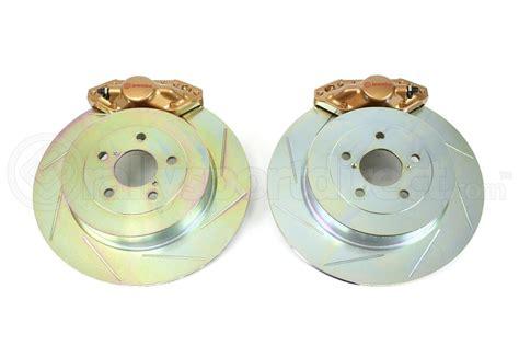 brakes biggest fan pt 2 brembo oe gold rear brake kit subaru wrx 2002 2007 2e5