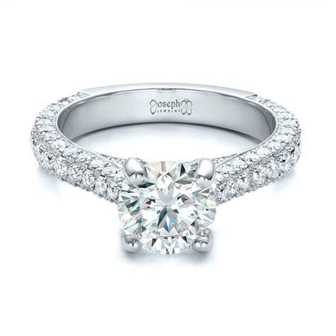 custom pave engagement ring 100853
