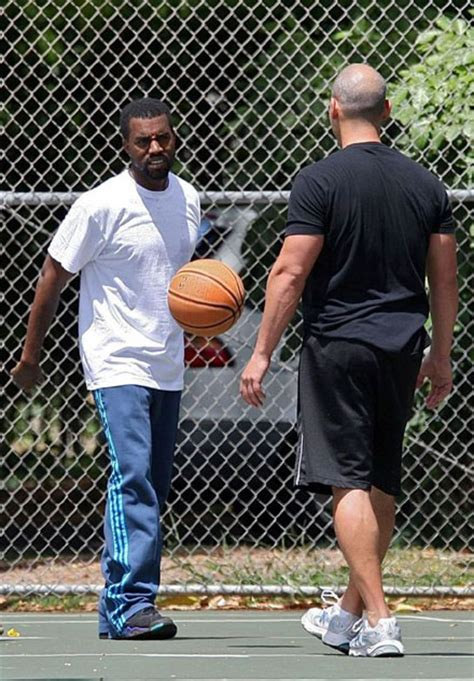 sheck wes playing basketball kanye west works it out on the basketball court