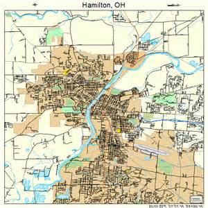 Hamilton Ohio Map by Hamilton Ohio Street Map 3933012