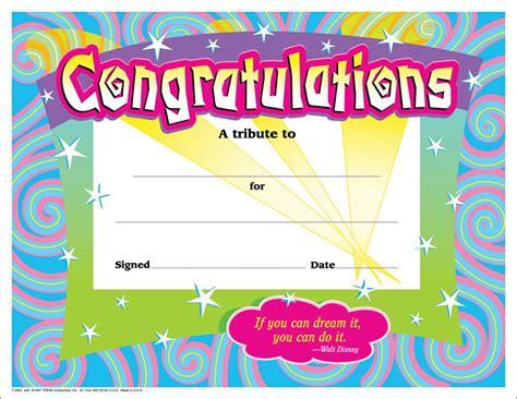 certificate congratulations 30 pk spirals 8 1 2 x 11 t 2954