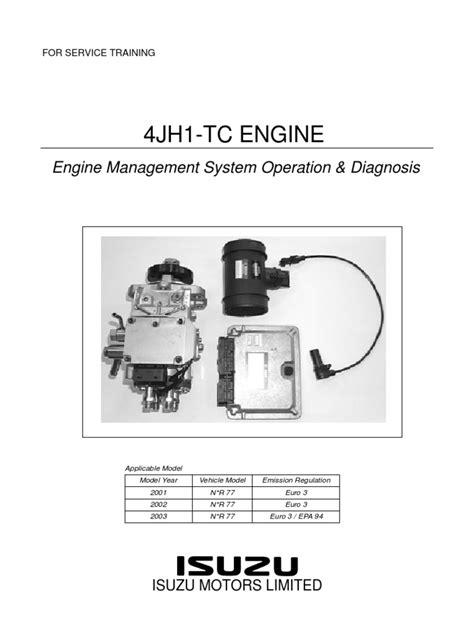 isuzu 4jh1 engine diagram