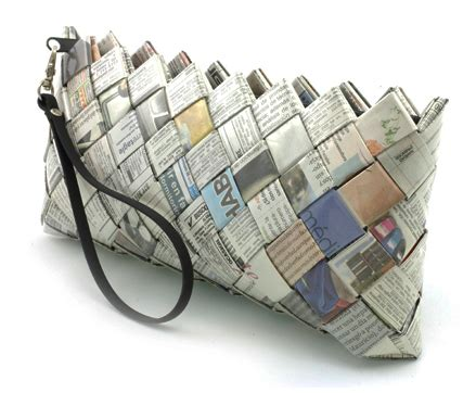 recycled newspaper recycled newspaper clutch paper crafts