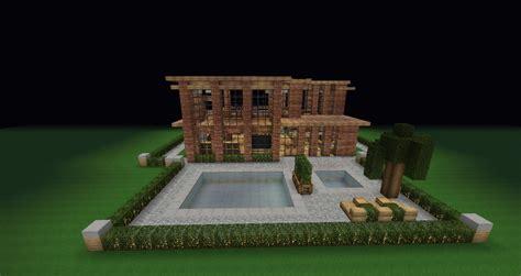 Backyard Ideas In Minecraft Modern Brick Villa Pool With Backyard Minecraft Project