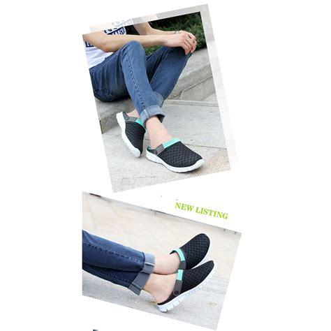 Sepatu Sandal Slip On Santai Pria sepatu sandal slip on santai pria size 39 blue