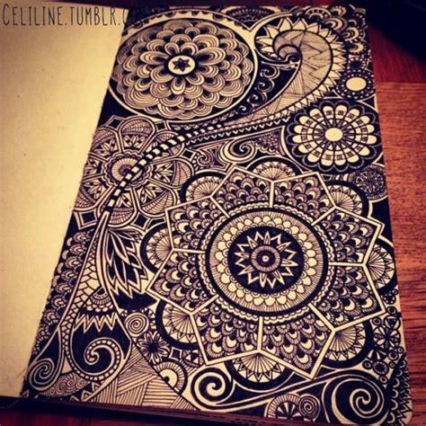 sketchbook zentangle details zentangle doodle drawing moleskine posca