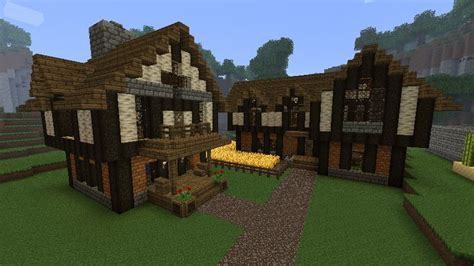 minecraft village house designs medieval minecraft house designs cozy medieval house and inn minecraft medieval