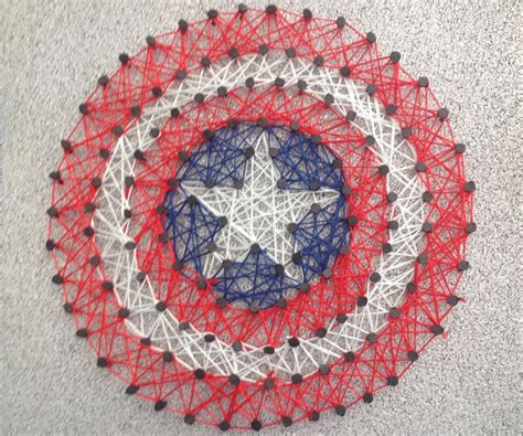 string art pattern generator captain america string art 5 steps with pictures
