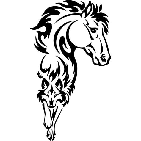 cheval tribal d 233 calque tatouage de vinyle autocollants