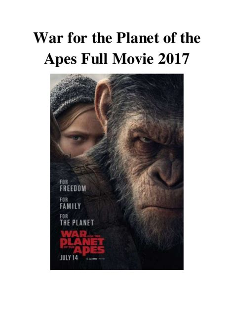 film online war for the planet of the apes watch trailer war for the planet of the apes 2017 online