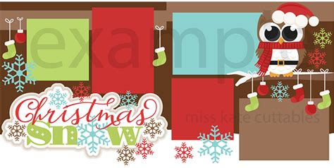 scrapbook title for christmas foods on the table snow svg scrapbook title clip cut outs for cricut svg cut files