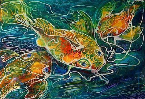 design lukisan batik batik corak ikan noralyza