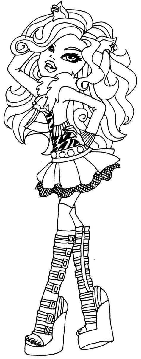 monster high coloring pages by elfkena on deviantart clawdeen wolf by elfkena on deviantart zentangle prints