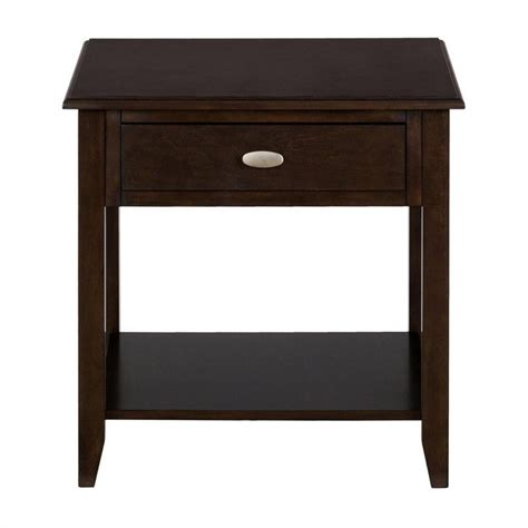 jofran 1030 series end table with drawer and shelf in