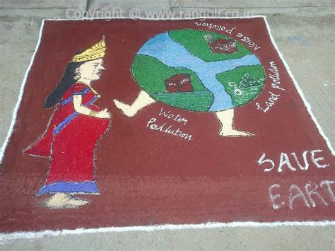 rangoli themes save water save earth rangoli rangoli on theme of stop pollution