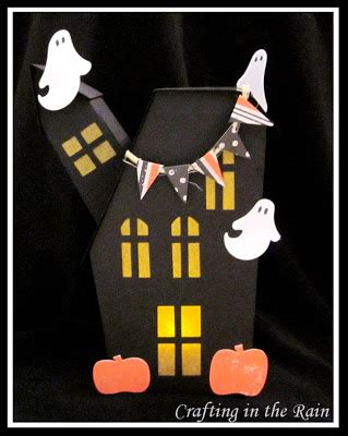 paper bag haunted house pattern paper haunted house crafting in the rain