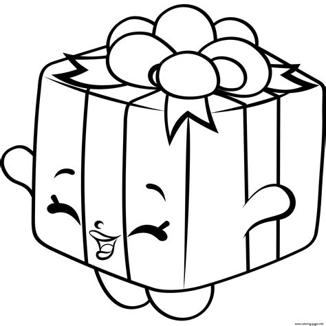 printable gift coloring page gift box shopkins season 4 coloring pages printable