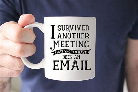i survived another meeting that was about a meeting blank lined journal 6x9 gift for coworkers books coffee mug i survived another meeting that should by