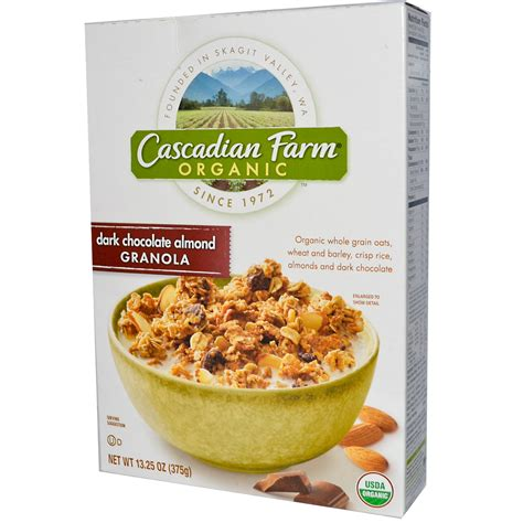 Cascadian Farm, Organic, Granola, Dark Chocolate Almond