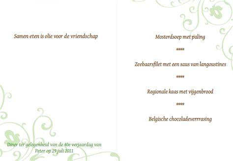 voorbeeld menukaart menu fotokaarten fotokaarten