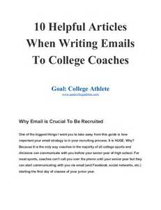 Thank You Letter After Meeting College Coach 10 helpful articles when writing emails to college coaches