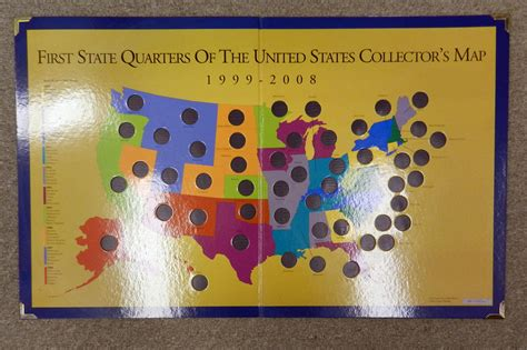 quarter map of the united states authentic state quarter of the united states